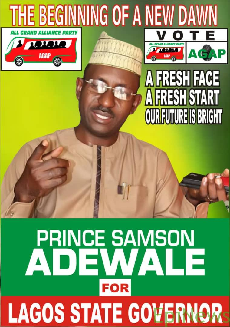 05140f105f52 INEC will have to pay me and my party 60 Million Naira as damages for  postponing this election - Lagos AGAP Governorship candidate Prince Adewale  Samson • ...